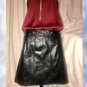 BCBGMaxAzria Genuine Leather skirt size 6